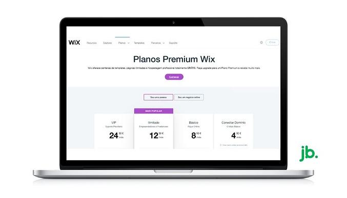 planos de preços do wix - joaobotas.pt