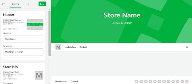 Crie uma fachada de loja online no sellfy