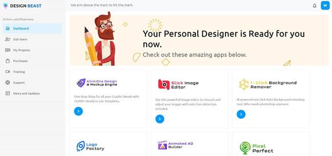 como funciona o designbeast
