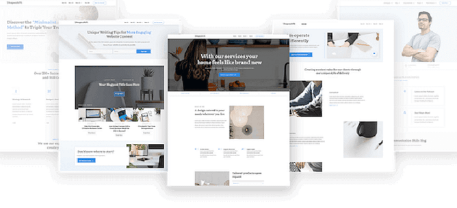 modelos de homepage Thrive Theme Builder