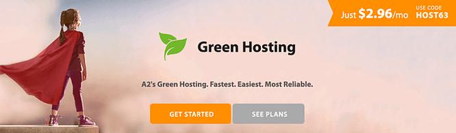 a2 hosting Ambientalmente amigável
