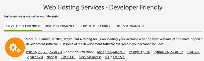 Ferramentas para programadores a2 hosting