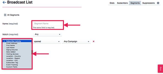 Marcação e automação de contatos avançados no sendlane 2
