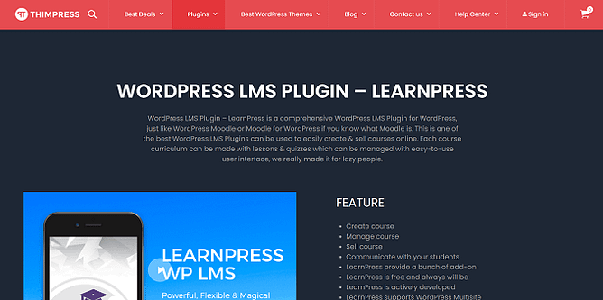 site do LearnPress