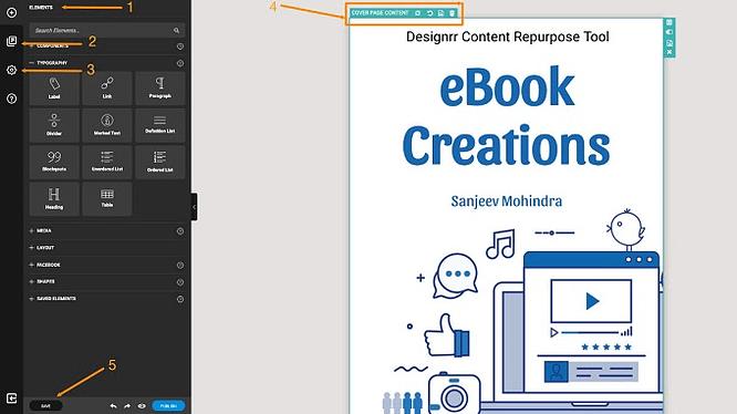 Edite seu e-book com Designrr