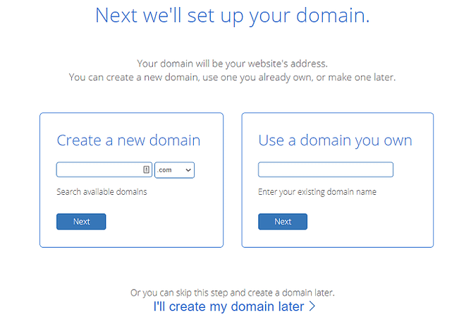registo dominio bluehost e alojamento web