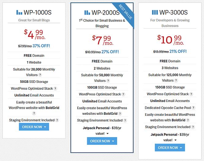 alojamento wordpress inmotion hosting