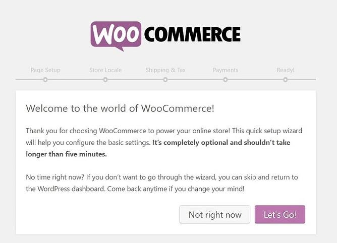 configuração do WooCommerce