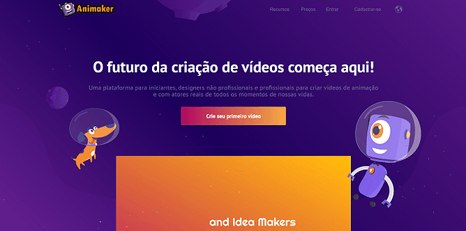 site do Animaker