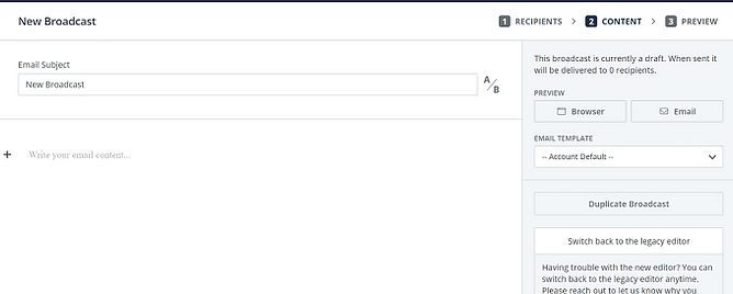 Editor de Email convertkit