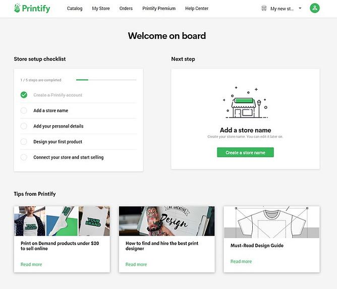 Printify Facilidade de uso