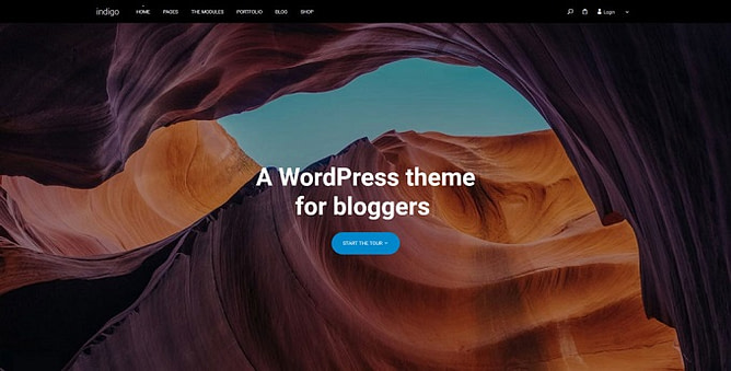 tema indigo wordpress