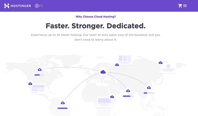 alojamento na cloud hostinger