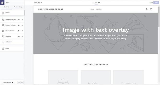 configurações personalizadas shopify