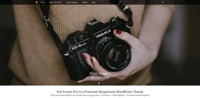 tema full frame wordpress