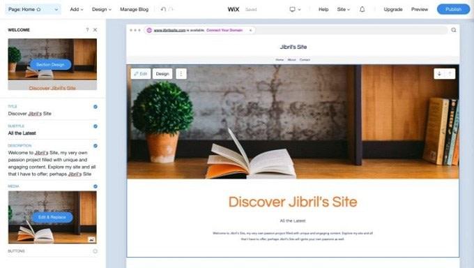 site feito com wix 2