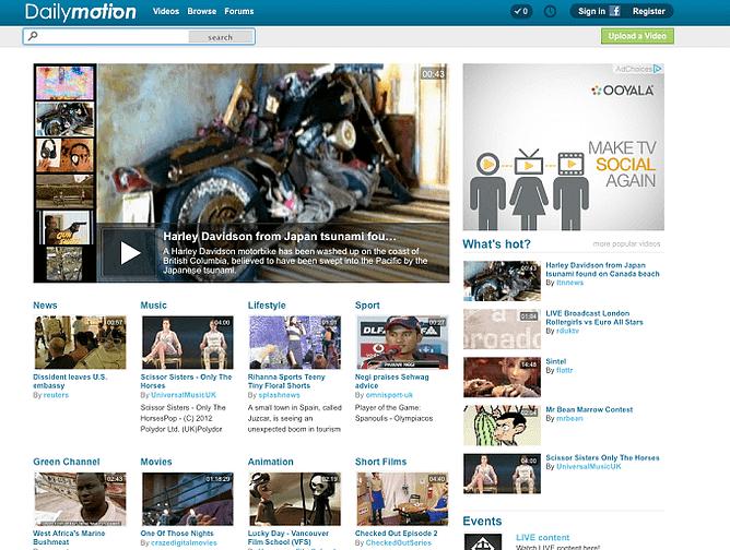 site da Dailymotion