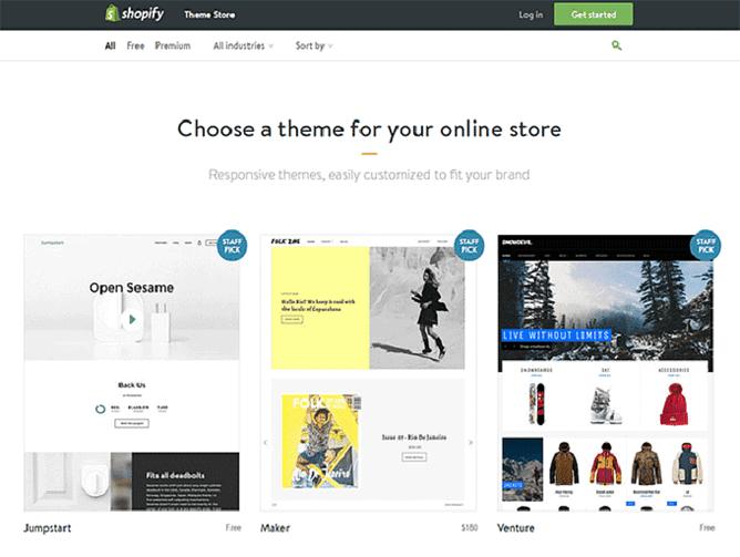 temas Shopify