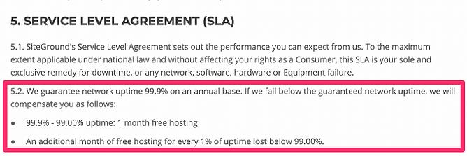 Garantia de devolução de dinheiro do siteground