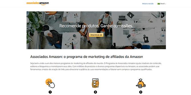 Site da Amazon Associates
