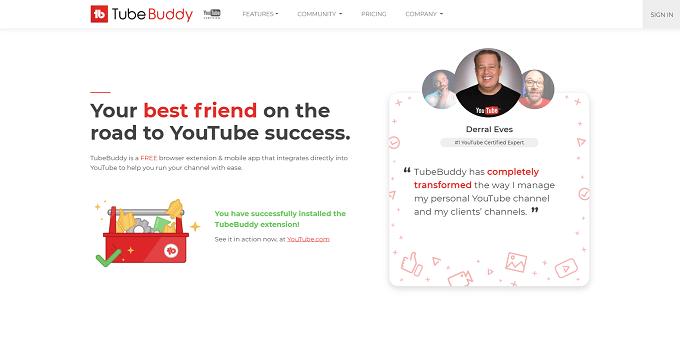 site da tubebuddy