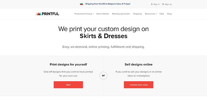 printful fácil de usar