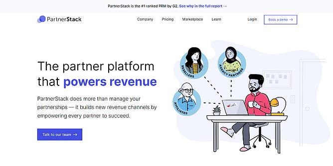 site da partnerStack