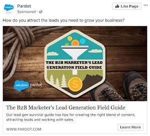 Salesforce-Pardot-exemplo-de-anúncio-no-Facebook-e-landing-page-joaobotas.pt