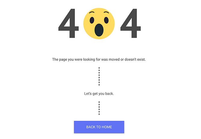 Página 404 personalizada no pixelme