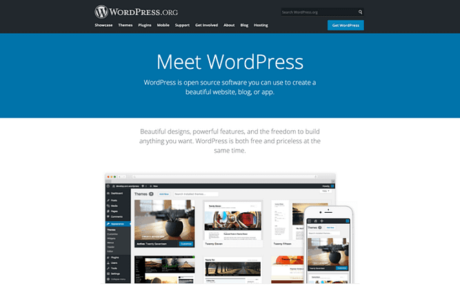 site do WordPress