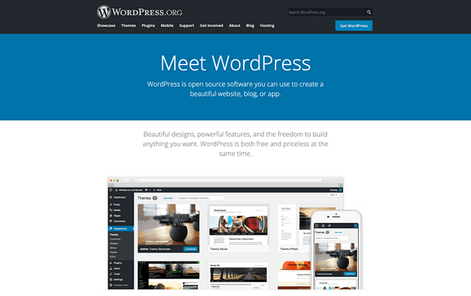 site do WordPress