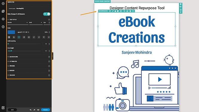 Visualizações do editor no designrr