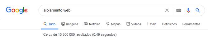 pesquisa google alojamento web