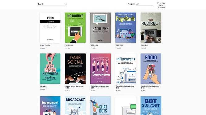 Modelos de e-book do designrr