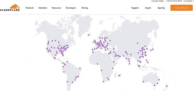 servidores cloudflare