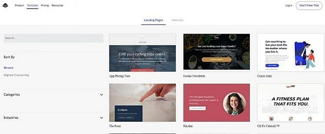 Modelos de Leadpages