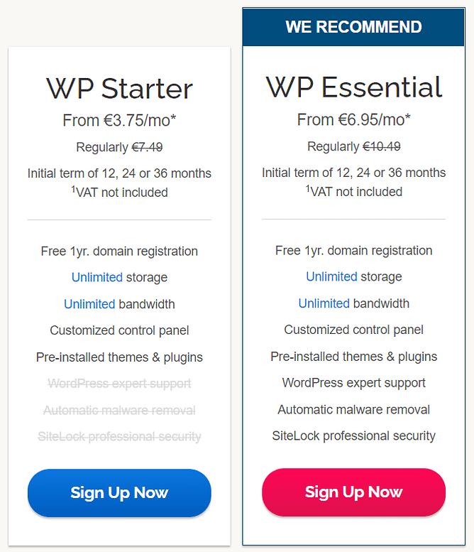 preços alojamento wordpress ipage