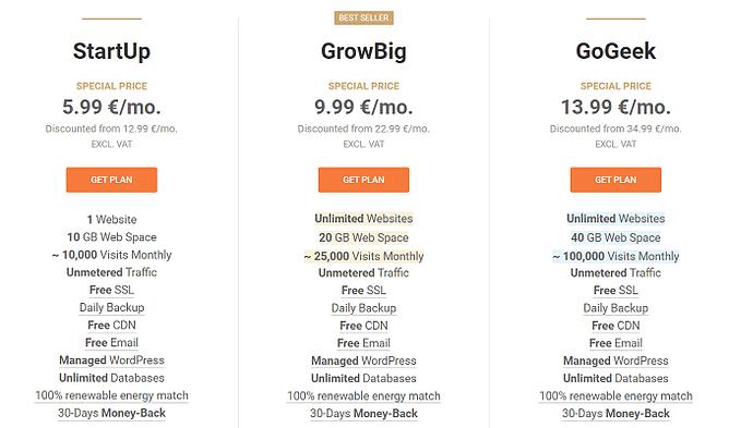 planos preços siteground