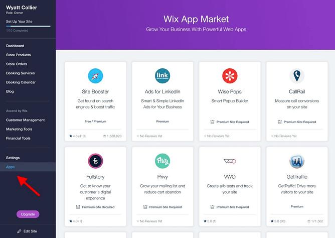 Criando uma loja online com Wix 6