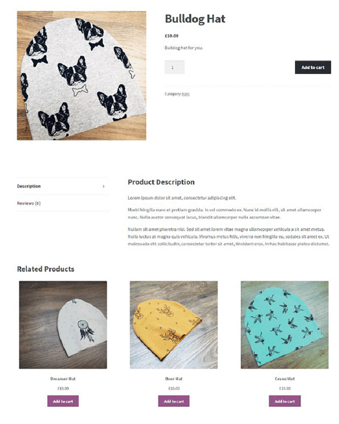 Páginas de produtos individuais woocommerce