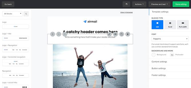 criar email no MailerLite