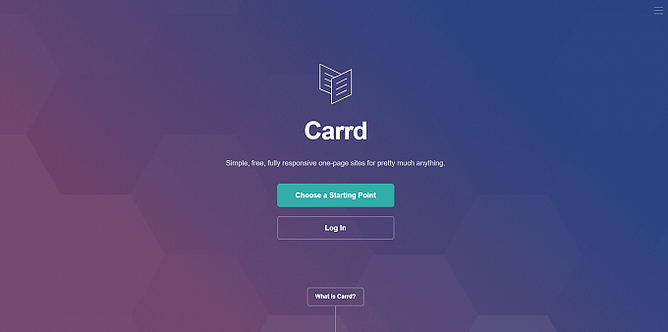 site do Carrd