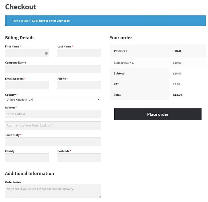 Check-out do woocommerce