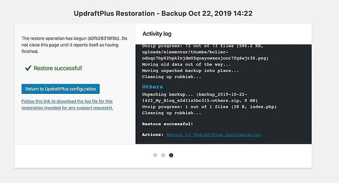 backup com UpdraftPlus