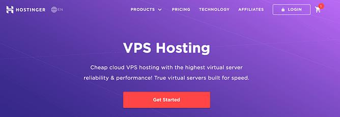 alojamento vps hostinger