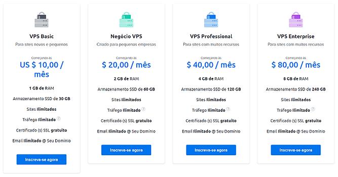 planos preços dreamhost