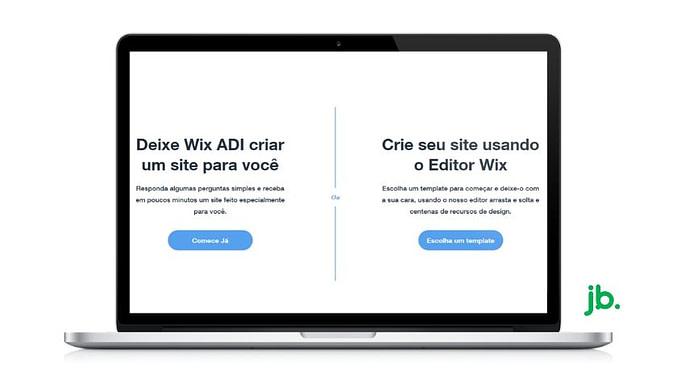 Wix ADI ou o Wix Editor - joaobotas.pt