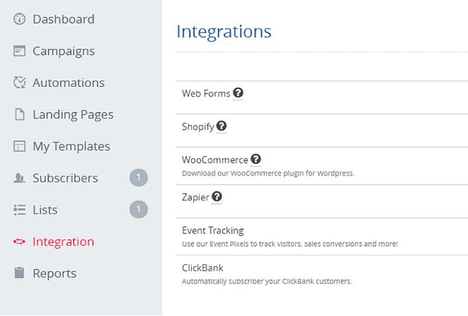 API e integrações sendlane