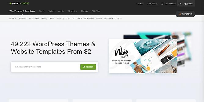 site do ThemeForest