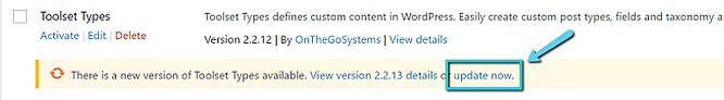 atualização de plugin wordpress
